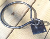 Two Piece Hand Forged Towel Ring Wrought Iron