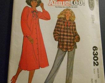 McCalls 6302, Annie Too pattern, Dress, top, size 10