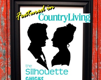 Featured in COUNTRY LIVING magazine Custom Couple Silhouette (available in OVERSIZED!)