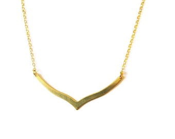 Simple Gold Filled Necklace Art Deco Necklace 14k Gold Filled