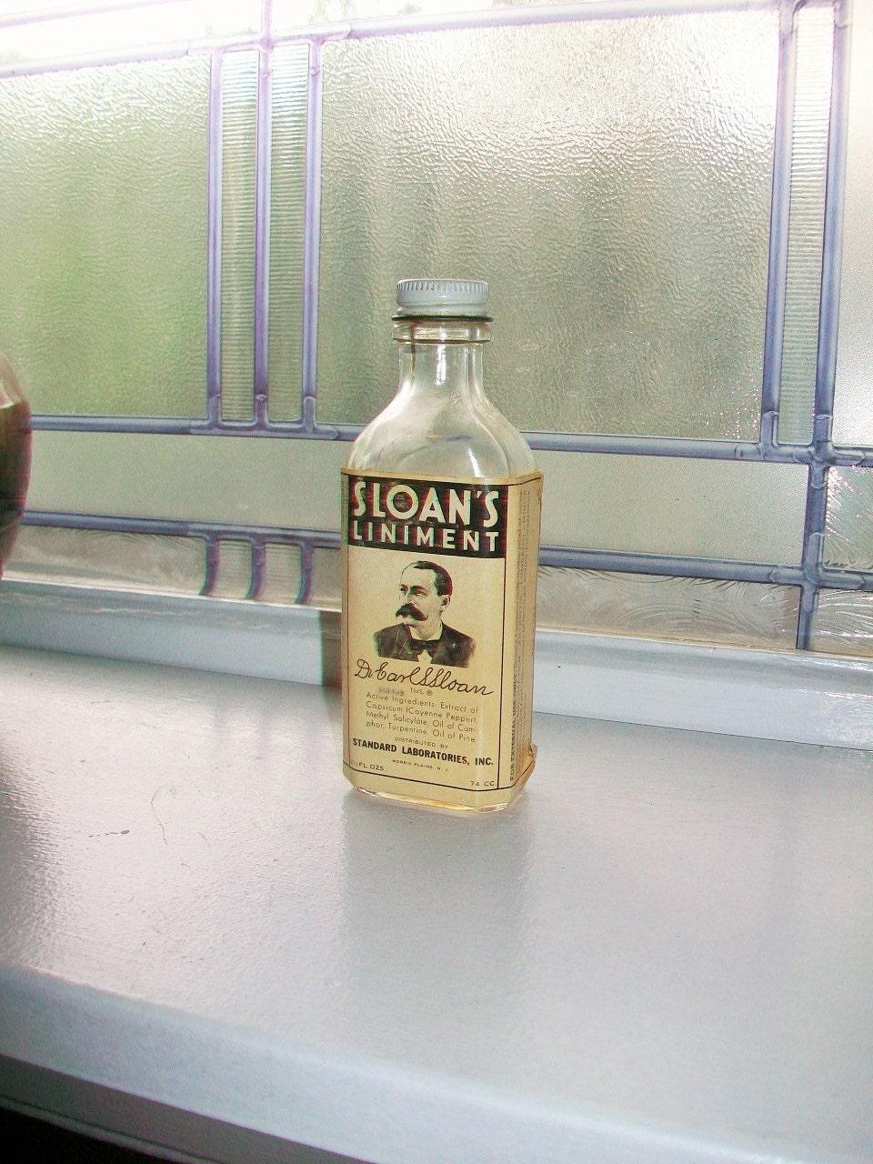 sloans liniment bottle dating
