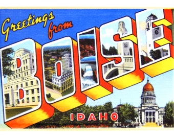 Greetings from Boise Fridge Magnet