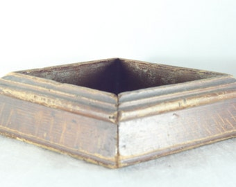 Vintage Handmade Brown Wooden box, Home Decor, a farm of art, Hand made, Unique gift ideas, collectible, rustic, primitive