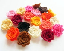 Felt Flower OTOÑO, set of 20 pieces, Die Cut Shapes, Applique, Confetti, Party Supply, DIY Wedding