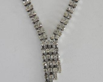 Rhinestone Necklace, Hollywood Glamour