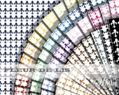 Fleur de lis digital paper, Ornate scrapbook paper, Princess printables, French scrapbook digital paper, craft supplies : b0170Ak v301