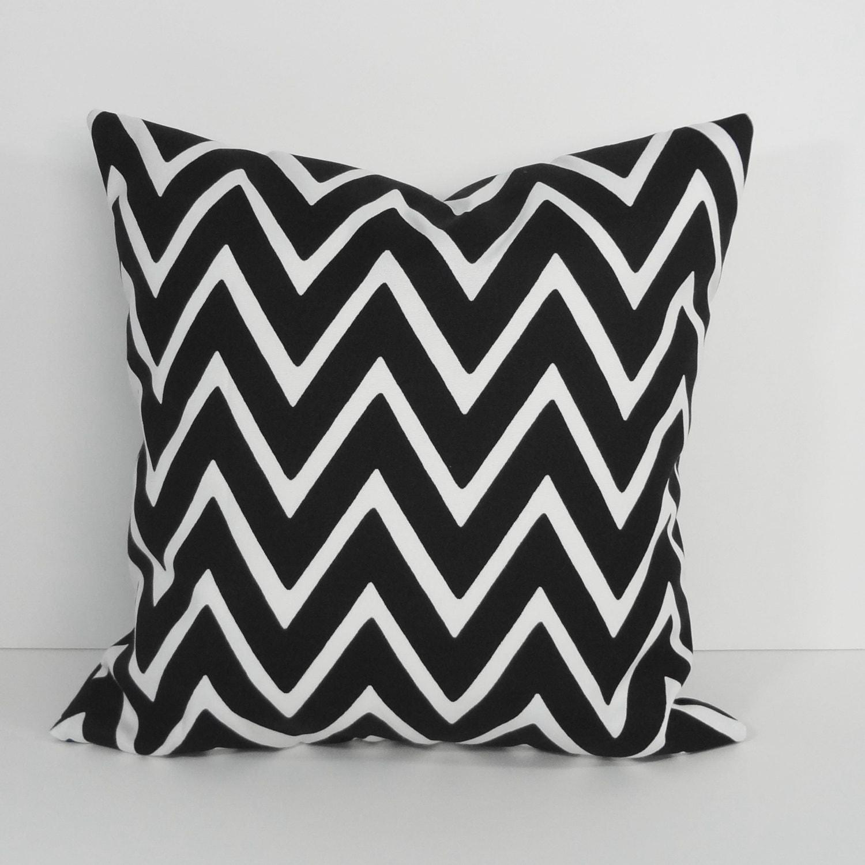 Black And White Chevron Throw Pillows : Chevron Black and White Designer Pillow Cover Throw Pillow
