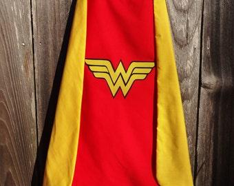 Wonder Woman Cape - Handmade and Reversible
