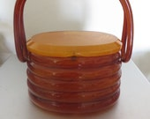 Beehive Lucite Purse extremely rare! 1950's