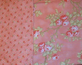 40% Off, Rose Fabric, Yardage, Roses, Three Pieces, Floral Fabric, Sewing Supplies, Quilting Supplies,Shabby Chic, Romantic