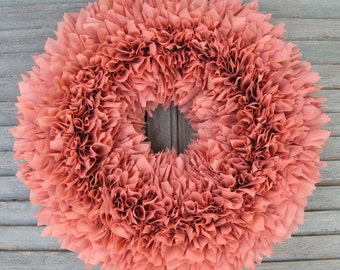 Rose Wreath - Valentine's Wreath - Outdoor Wreath - Baby Girl Wreath - Door Wreath - Pink Wreath - Spring Wreath - Baby Shower Decor