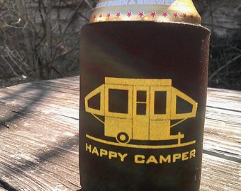 Happy Pop Up Camper Can Coolers - Set of 2