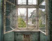 NEW ITEM 3ft x 4ft Vinyl Photography Backdrop  / Antique Window