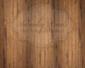 15ft x 15ft Vinyl Photography Backdrop / Brown Raw Wood Floordrop