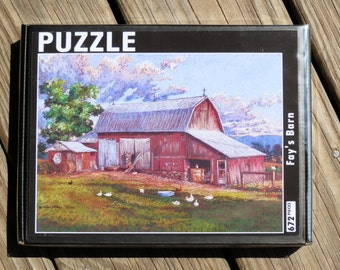 672 piece PUZZLE from the pastel painting Fay's Barn