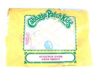 Vintage Cabbage Patch Kids Stretch Ends Crib Sheet - Nursery Baby Unopened MIP MIB