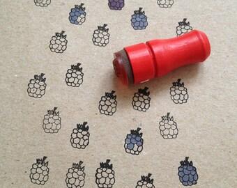 Mini Blackberry Rubber Stamp