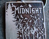 Pet ID Tag, Crows and Trees - 1.25 inch Square, Midnight Crows