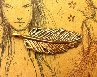 Bronze Feather of Truth Pendant Link