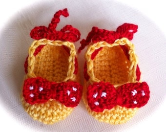 READY TO SHIP Minnie Mouse Slippers Yellow with Red Bow and Tie  / Minnie Mouse / Photo Prop