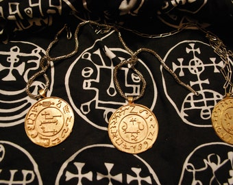 GOETIA or Verum GRIMOIRE Demon Daemon spirit seal pendant!  Lost wax cast to order MAGICK  by experienced magi. For Evocation 93 Thelema gd