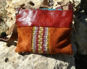 Ethnic Hippie Purse /  Messenger / Leather Purse Bag / Womens Leather bags / Hippie Boho bags / LunaBagDesigns