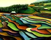 "6"" x 9"" giclee print Vietnam terraces"