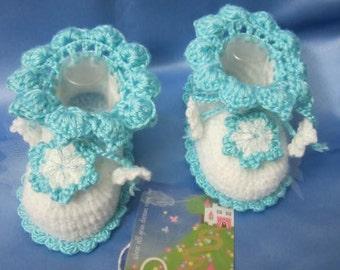 Baby Girl Booties, Baby Booties, Crochet Baby Booties, Baby Girl Shoes, Crochet Baby Girl Booties