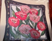 Vintage Needlepoint Kit-Tulips Pillow