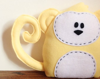Yellow Monkey Stuffed Animal Room Decor