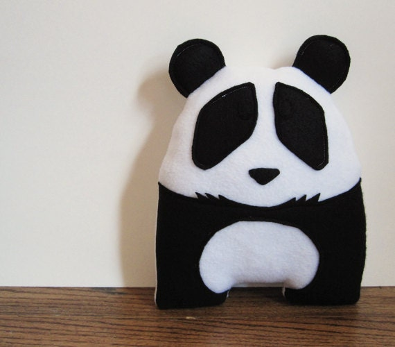 Black and white panda bear stuffed animal room decor for Panda bear decor