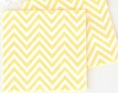 """Paper Napkins 6.5""""  Chevron  set of 20  Yellow Compostable Sustainable Eco Friendly Birthday Party Wedding Bridal Shower Baby Shower"""