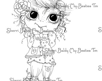 INSTANT DOWNLOAD Digi Stamps Big Eye Big Head Dolls Digi Bestie Little Cutie Patooite 2  By Sherri Baldy
