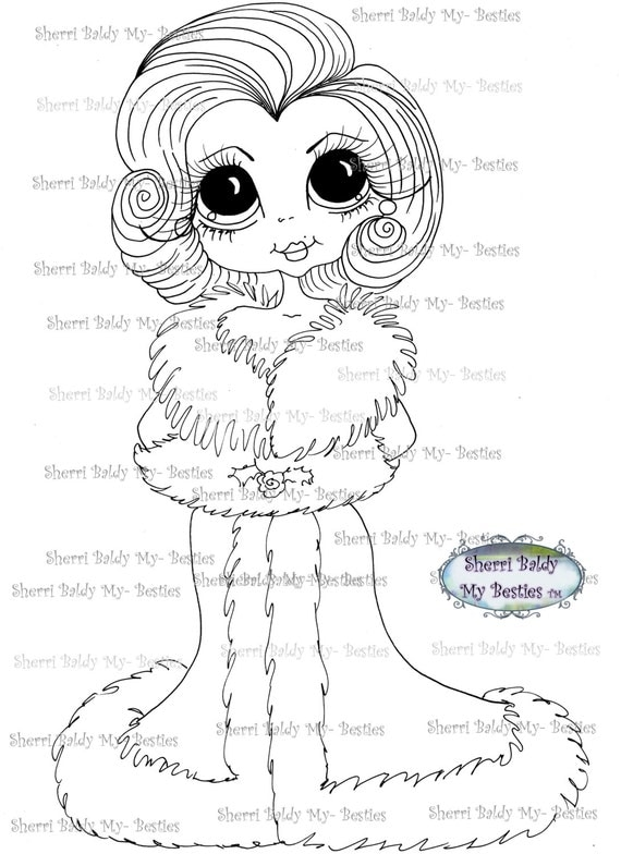 INSTANT DOWNLOAD Digital Digi Stamps Big Eye Big Head Dolls Digi  My - Besties  IMG164 By Sherri Baldy