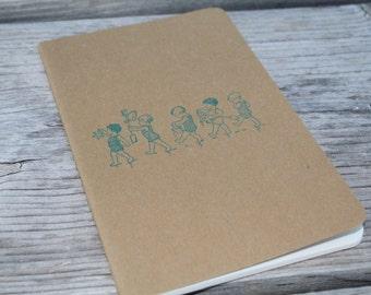 Beach Kids Travel Beach Lined Journal