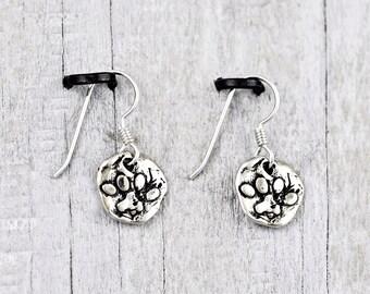 Puppy Paw Earrings - Dog Paw Earrings - Dog Paw Jewelry -  E824