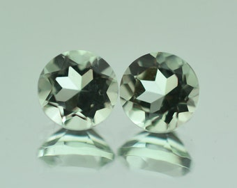 Natural Green Amethyst Faceted Round Size 5 mm, 6 mm, 7 mm, 8 mm, 10 mm, 14 mm