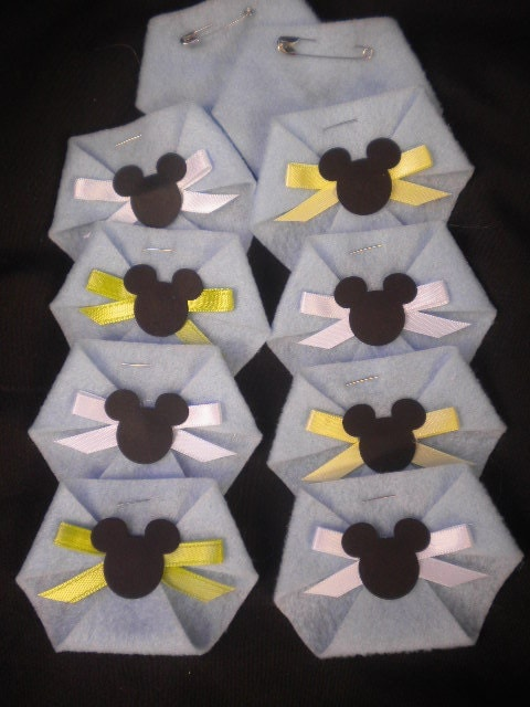 24 pc dirty diaper game baby shower baby mickey mouse baby