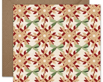 Plaited Christmas Pattern Greeting card or greeting card set