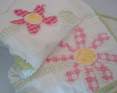 Baby Girl Rag Quilt KIT DIY Quilt Kit with Pattern Pink Sewing Kit