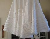 Christmas Tree Skirt White Holiday White Christmas French Country Decor Tree Skirt