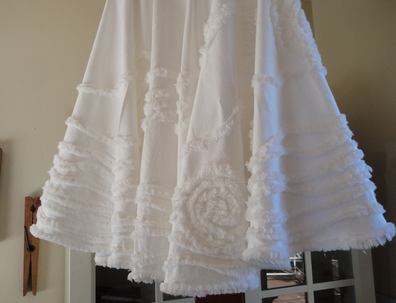 Christmas tree skirt white holiday by snipitup