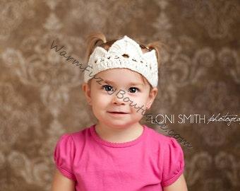 Baby Princess Royal Tiara Hat - U Pick Colors - Newborn Boy Girl Costume Halloween  Photo Prop Cap Winter Outfit