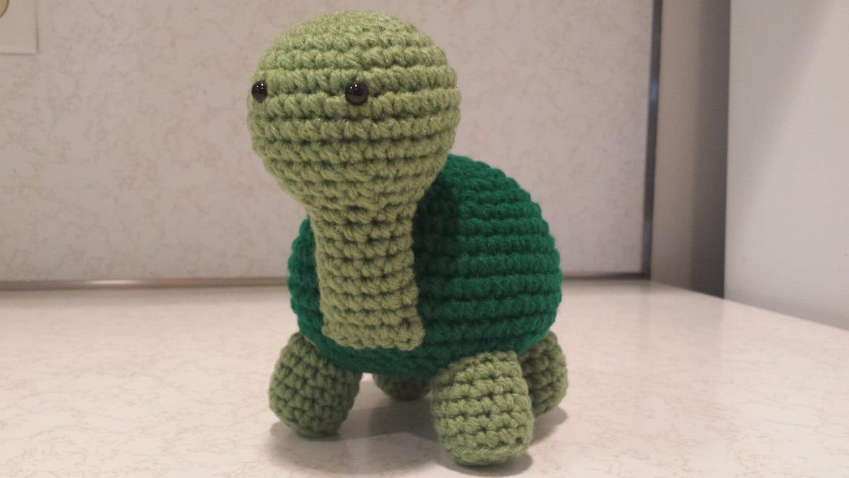 Crocheting Stuffed Animals : Turtle Crochet Amigurumi Stuffed Animal Plush by HookAndStitches