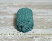 Newborn Knit Stretch Wrap, Newborn Photography Prop, Ready to Ship - Pine