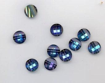 10 pieces vintage Swarovsk crystal pagoda beads - Art. 5107R - 12 mm -heliotrope