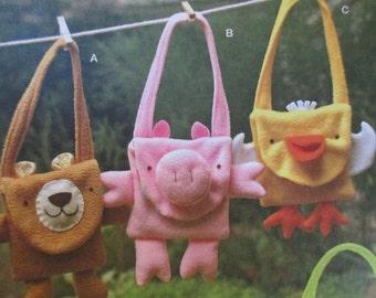 Simplicity 1386 Childrens Fleece Animal Bags