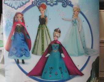 Simplicity 0734 Barbie Doll Frozen Oufits pattern