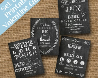 chalkboard valentines scripture bible verse christian valentine cards diy printable set