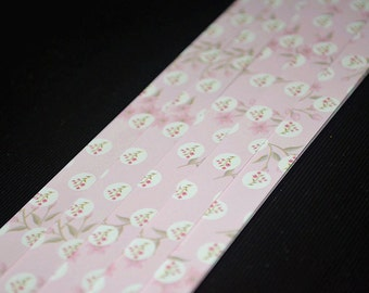 Light Pink Floral Origami Lucky Star Paper Strips Star Foldng DIY - Pack of 50 Strips
